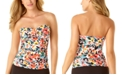 Anne Cole Sunset Floral Twist-Front Tankini Top