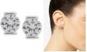 Anne Klein Silver-Tone Crystal Stud Earrings