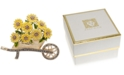 Anne Klein Gold-Tone Pavé Sunflower Cart Pin