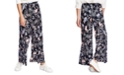 1.STATE Printed Wide-Leg Pants