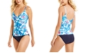 Calvin Klein Twist Over-The-Shoulder Tummy Control Tankini Top & Hipster Bottoms