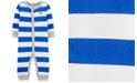 Carter's Baby Boys 1-Pc. Striped Truck Cotton Sleep & Play