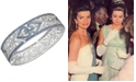 Grace Kelly Collection Rhodium Plated Love Bracelet