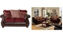 Furniture of America Middlesex Upholstered Love Seat