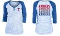 5th & Ocean Texas Rangers Women's Space Dye Raglan Shirt