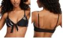 O'Neill Juniors' Monsoon Tie-Front Printed Bikini Top, Created for Macy's