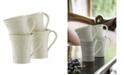 Belleek Claddagh Mugs, Set of 4