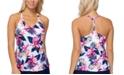 Island Escape Maya Bloom Printed Racerback Tankini Top, Created for Macy's