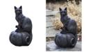 Campania International Cat on Pumpkin Garden Statue
