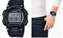 Casio Men's Digital Black Resin Strap Watch, 47.1mm