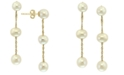 EFFY Collection EFFY® Cultured Freshwater Pearl (5-6mm) Drop Earrings in 14k Gold