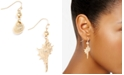 Zenzii Gold-Tone Shell Drop Earrings