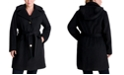 Michael Kors Plus Size Belted Hooded Wrap Coat, Created for Macy's