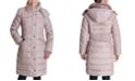 London Fog Faux-Fur Collar Hooded Down Puffer Coat