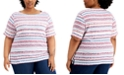 Karen Scott Plus Size Berry-Print T-Shirt, Created for Macy's