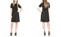 Michael Kors Metallic Dot-Print Mini Dress
