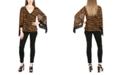 Michael Kors Plus Size Zebra-Print Chain-Embellished Sheer-Sleeve Blouse