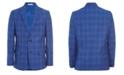 Calvin Klein Big Boys Bold Box Plaid Suit Jacket