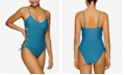 Hula Honey Juniors' Lace-Up One-Piece Swimsuit, Created for Macy's