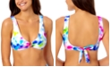 California Waves Tie-Dyed Bikini Top, Created for Macy's