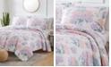 Olivia Gray St. Croix Hydrangea 3-Piece Reversible Quilt Set, Queen