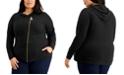 Michael Kors Plus Size Asymmetrical Zip Hoodie