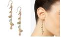INC International Concepts INC Gold-Tone & Multicolor Shaky Bead Charm Linear Drop Earrings, Created for Macy's
