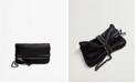 MANGO Women's Chain Leather Crossbody Bag