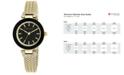 Anne Klein Women's Gold-Tone Stainless Steel Mesh Bracelet Watch 30mm AK-1906BKGB
