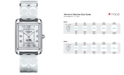 COACH WOMEN'S STAINLESS STEEL ETCHED BANGLE BRACELET WATCH 32X24MM 14502159
