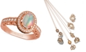 Le Vian Opal (2/3 ct. t.w.) and Diamond (5/8 ct. t.w.) Ring in 14k Rose Gold, Created for Macy's