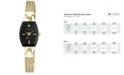 Anne Klein Women's Black Gold-Tone Mesh Bracelet Watch 19mm AK-2184BKGB