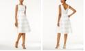 Adrianna Papell Striped A-line Dress