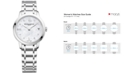 Baume & Mercier Women's Swiss Classima Diamond-Accent Stainless Steel Bracelet Watch 31mm M0A10326