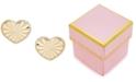 Macy's Children's Textured Heart Stud Earrings in 14k Gold