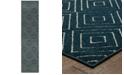 """JHB Design CLOSEOUT!  Soleil Vector Navy 1'10"""" x 7'6"""" Indoor/Outdoor Runner Rug"""