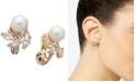 Anne Klein Cubic Zirconia & Imitation Pearl E-Z Comfort Clip-On Earrings