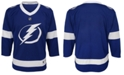 Authentic NHL Apparel Tampa Bay Lightning Blank Replica Jersey, Big Boys (8-20)