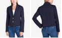 Tommy Hilfiger Two-Button Blazer with Ribbed Trim, Created for Macy's