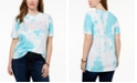 Love Tribe Plus Size Fierce Femme Tie-Dyed T-Shirt, Created for Macy's