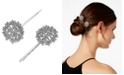 INC International Concepts I.N.C. Silver-Tone 2-Pc. Set Crystal Flower Hairpins, Created for Macy's