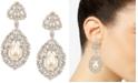 Nina Gold-Tone Cubic Zirconia & Imitation Pearl Drop Earrings