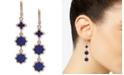 Ivanka Trump Rose Gold-Tone Stone Linear Drop Earrings