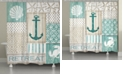 Laural Home Coastal Retreat Shower Curtain