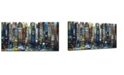 "Ready2HangArt 'Big City' Abstract Canvas Wall Art, 18x36"""