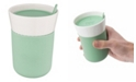 BergHOFF Leo Collection Porcelain 11.16-Oz. Travel Mug with Green Sleeve