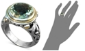 EFFY Collection Balissima by EFFY® Green Quartz Round Ring (5 ct. t.w.) in Sterling Silver and 18k Gold