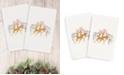 Linum Home CLOSEOUT!  Christmas Deer 100% Turkish Cotton 2-Pc. Hand Towel Set