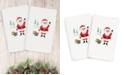 Linum Home CLOSEOUT!  Christmas Santa Waving 100% Turkish Cotton 2-Pc. Hand Towel Set