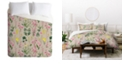 Deny Designs Holli Zollinger Wildflower Study Neutral Queen Duvet Set